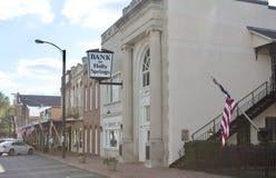 霍利斯普林斯密西西比镇银行 库存图片