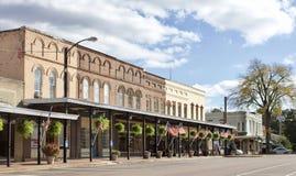 霍利斯普林斯街市的密西西比 库存照片