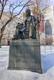 霍勒斯・格里利纪念品,纽约 免版税库存照片
