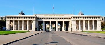 霍夫堡宫门在维也纳 库存照片