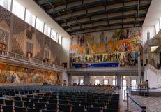 霍尔在奥斯陆香港大会堂 建筑在1931年开始的, Bu 免版税库存照片