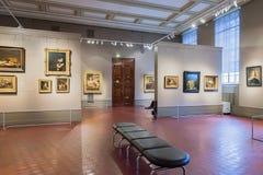 霍尔在普希金艺术状态博物馆在莫斯科,俄罗斯 库存照片