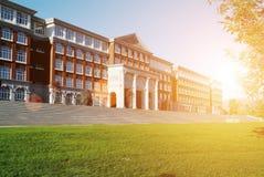 霍尔大厦在学院 免版税库存照片
