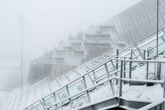 霍尔门科伦在fogg,奥斯陆,挪威的跳高滑雪 库存图片
