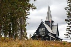 霍尔门科伦教堂在奥斯陆,挪威 图库摄影