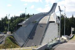 霍尔门科伦跳高滑雪小山奥斯陆 库存图片