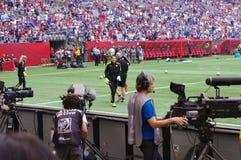 霍普・索罗准备,女子世界杯足球赛 库存照片