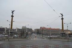 柴霍甫桥梁在布拉格 免版税图库摄影