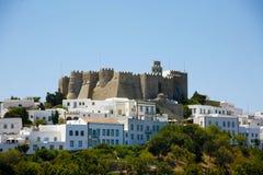 霍莉修道院在拔摩岛海岛希腊 图库摄影