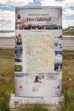 霍达兰Hardangervidda国家公园,挪威 免版税图库摄影