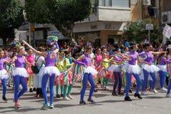霍隆Adloyada。普珥节狂欢节。以色列 免版税图库摄影