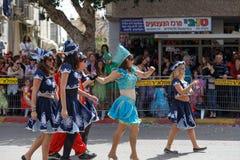 霍隆Adloyada。普珥节狂欢节。以色列 库存图片