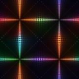 霓虹亮光被加点的发怒无缝的背景 免版税图库摄影