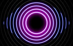 霓虹发光的线,不可思议的能量空间光概念 库存例证