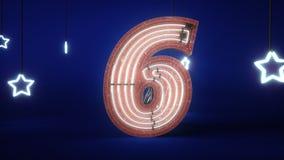 霓虹名列前茅10柜台 3D动画 股票录像