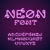 霓虹向量字体 库存图片