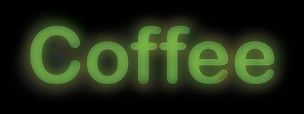 霓虹咖啡标志 免版税库存图片