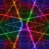 霓虹彩虹五颜六色的激光无缝的背景 免版税库存图片