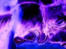 霓虹抽象手画背景 免版税库存照片