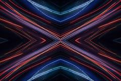 霓虹抽象样式 免版税库存图片