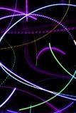 霓虹抽象的光 免版税库存图片
