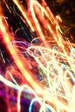 霓虹抽象的光 免版税库存照片