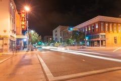 霓虹标志奇摩剧院,亚伯科基,新墨西哥,美国 奇摩Th 库存照片