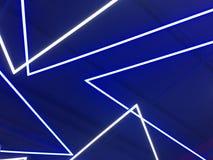 霓虹蓝色的光 免版税库存图片