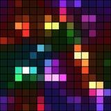霓虹颜色正方形马赛克无缝的背景 免版税库存照片