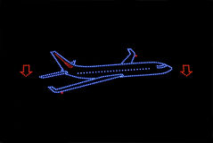 霓虹飞机 库存图片