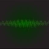 霓虹绿色声波传染媒介 图库摄影