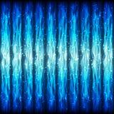 霓虹Wawe线的无缝的样式与淡光Fl的作用的 免版税库存照片