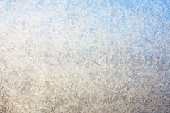 结霜的冬天玻璃窗背景 免版税库存照片