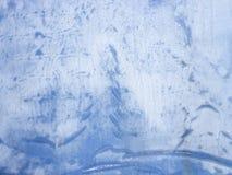 霜的图片在窗玻璃的 免版税库存照片