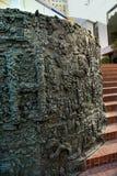 露丝Asawa 1970铜雕塑和喷泉特写镜头  库存照片
