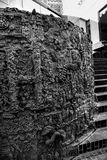 露丝Asawa 1970铜雕塑和喷泉特写镜头  免版税库存照片