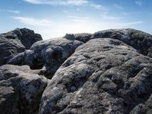 露出岩石 免版税图库摄影