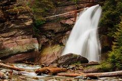 露出秋天冰川蒙大拿国家公园 免版税库存照片