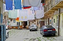 露台在Lvov 免版税图库摄影