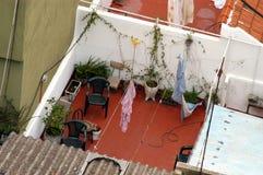 露台屋顶 免版税库存图片