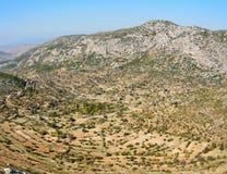 露台的庭院在马尔马里斯港手段t附近的Bozburun半岛的 免版税库存图片
