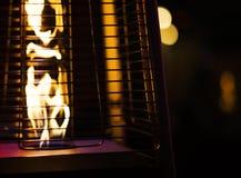 露台的煤气加热器 免版税库存照片