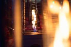 露台的煤气加热器 库存图片