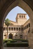 露台通过曲拱,圣诞老人MarÃa de韦尔塔,Sor修道院  库存照片