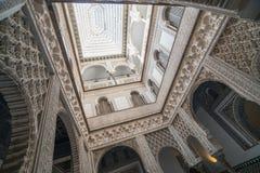 露台de las Munecas,城堡,塞维利亚,安达卢西亚,西班牙 库存图片
