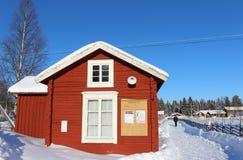 露天博物馆Hägnan在Gammelstad 图库摄影