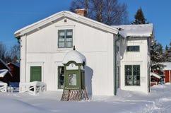 露天博物馆Hägnan在Gammelstad 免版税图库摄影