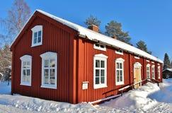 露天博物馆Hägnan在Gammelstad 库存图片