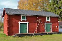 露天博物馆Hägnan 库存照片