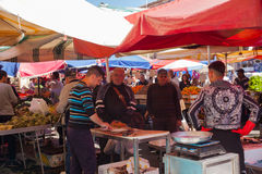 露天市场,卡塔尼亚 免版税库存图片